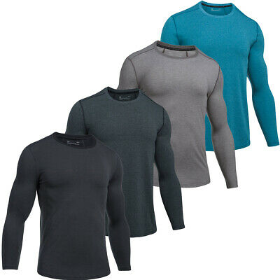 Under Armour Mens UA Threadborne Fitted Knit Long Sleeve T Shirt 61% OFF RRP