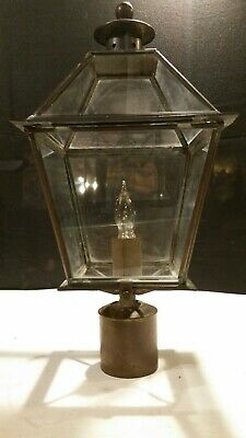 HandCrafted  Solid Brass New England Style Post Lantern