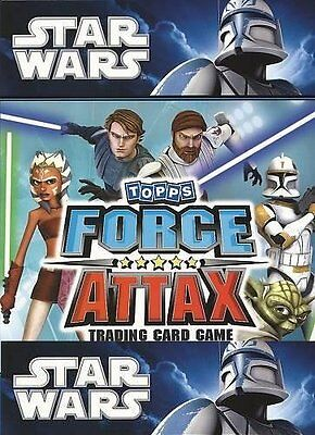 STAR WARS : FORCE ATTAX Trading Card Base Set of 150 series 1 UK CLONE WARS 2010