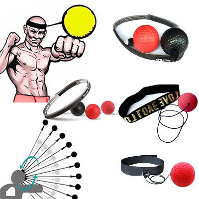 Reflex Speed Training Boxing Punch Exercise  Fight Boxeo Ball Head Band