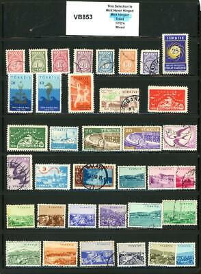 PKStamps - 1c Start - vb853 - Turkey - As Removed from Album Pages