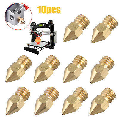 10pcs MK8 Extruder Nozzle For 3D Printer CR-10 5 Different Size 0.2mm 1.0mm M5W3
