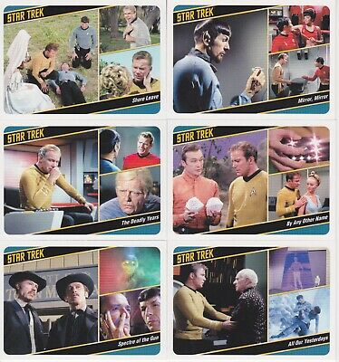 2018 Star Trek Captains Collection Complete Trading card base set 1-80