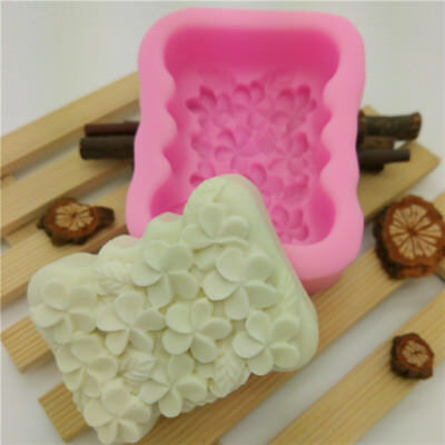3D Gardenia Flower Silicone Cake Fondant Mold Chocolate Candy Soap Mould LG