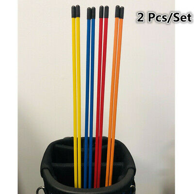 Golf Alignment Sticks 2 Pcs/Set Swing Tour Training Aid Practice Rods Trainer US