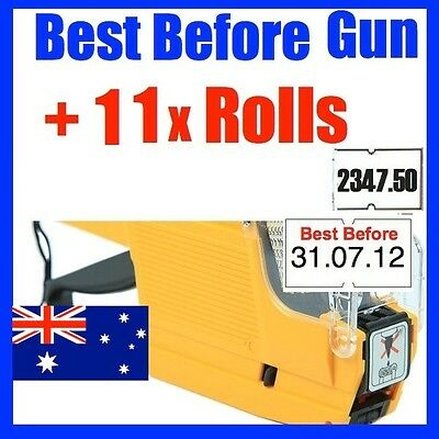 BEST BEFORE use by PRICE PRICING GUN LABELLER +11 ROLLS LABEL BFG-1