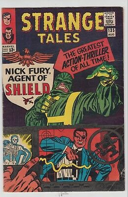 Strange Tales # 135   -Fn  1St Nick Fury Agent Of Shield Stan Lee  Cents  1965