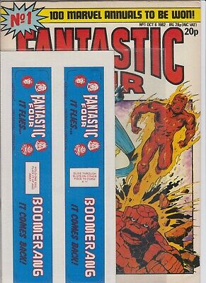 Fantastic Four # 1  Vf+  With Free Gift & Poster + Origin Issue  1982 Uk Edition