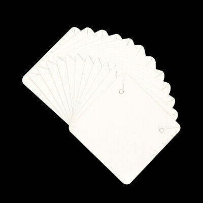 50Pcs Blank White Square Necklace Earrings Paper Display Card for DIY Jewelry