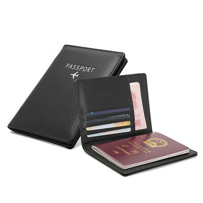 Trip Secure RFID Blocking Travel Leather Passport Holder Cards Case Cover Wallet