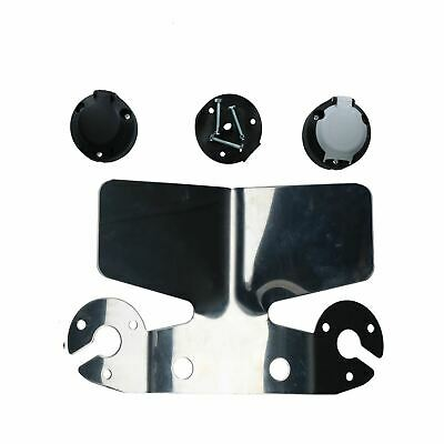 Towing Tow Ball Electrics Kit Twin Sockets, Stainless Bumper Protector Caravan
