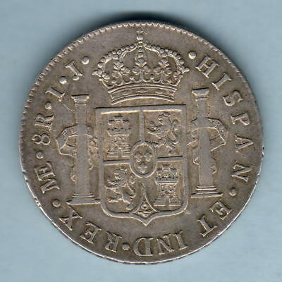 Peru.  1794-IJ 8 Reales.. Lima Mint.. aEF/EF - Much Lustre