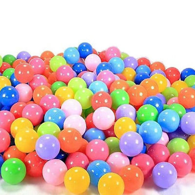 1000 x Quality Secure Baby Kid Pit Toy Swim Fun Colorful Soft Plastic Ocean Ball