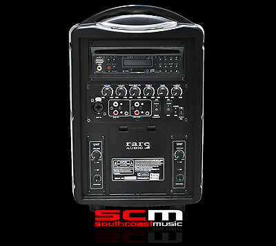 Portable Wireless Pa System 80 Watts Compact Size Two Receivers P+h Included!