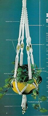 Easy Beginner Plant Pot Hanger Patterns in Easily Done Macrame Craft Book HH23