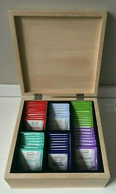 Particle Board Wood Chest - with 75 Assorted Ronnefeldt Seasonal Tea Bags