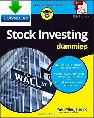 Stock Investing for Dummies - Read on PC, Tablet or Phone - Fast PDF DOWNLOAD