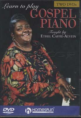 Learn to Play Gospel Piano Ethel Caffe-Austin 2 DVD Set Tuition