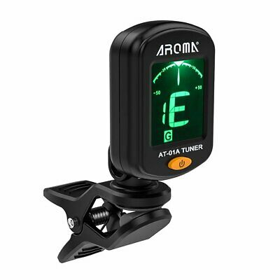 Electronic Digital Guitar Tuner Clip-on LCD Chromatic Bass Violin Ukulele Clamp