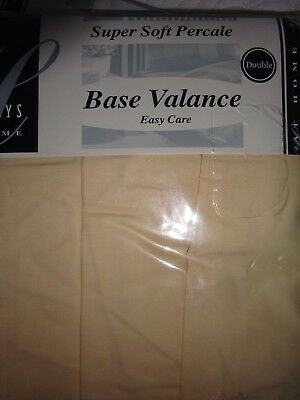 Double Percale Base Valance New