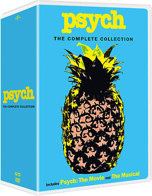 Psych: The Complete Series Season 1 2 3 4 5 6 7 8 ( DVD, 2018, 32-Disc box Set)