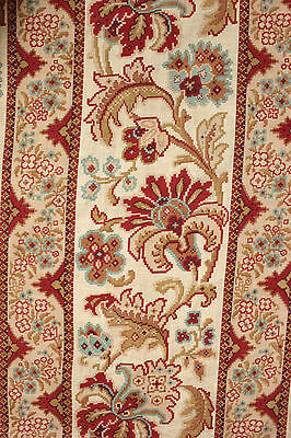 Fabric Antique French 19th century Embroidered look design 1880 light weight