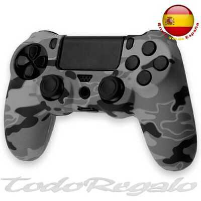 Funda de Silicona Gel Mando para Sony PlayStation PS4/Slim/Pro Camuflaje Gris