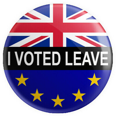 I Voted Leave BUTTON PIN BADGE 25mm 1 INCH Brexit Flag UK Europe Referendum