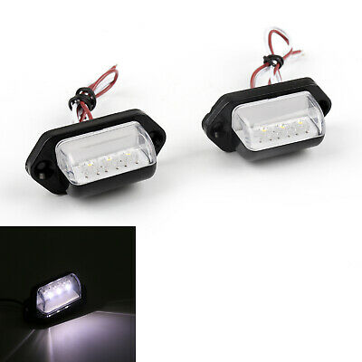 2pcs 3 LED Rear Tail License Number Plate Light Lamp 12V Car Truck Trailer Van P