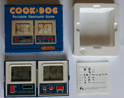 COOK & DOG Portable Electronic Game H-85 2-Screen + Boîte + Notice - Vintage