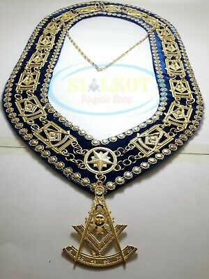 MASONIC PAST MASTER Chain Collar With Past Master Jewel