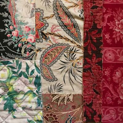6 PIECES 19th CENTURY  FRENCH LINENS COTTONS 20. FREE WORLDWIDE POSTAGE