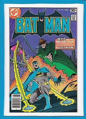 "Batman #302_August 1978_Nm Minus_""who Are The Wire-Head Killers?""_Bronze Age Dc!"