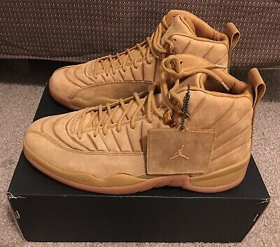 finest selection dd6e5 fece4 NIKE AIR JORDAN 12 Retro Psny Wheat/ Light Brown Nyc Sneakers Aa1233 700  Size 12