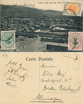 Persia 1912, Rare Postcard From Tauris To Germany, See..  #l972