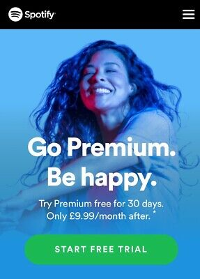 Brand New Spotify Premium Lifetime Access! Cheapest On eBay! Save Over £120!