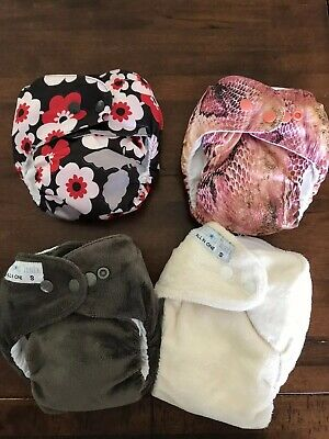 Itti Bitti Modern Cloth Nappies bulk lot GC size Small x 4