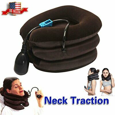 Massager Neck Brace Support Cervical Collar Air Traction Therapy Device USA