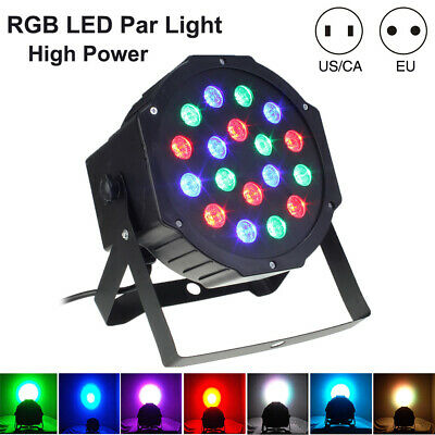 RGB LED Stage Lights DISCO Ball Effects Strobe Changing Hopping Mix Color 4D95