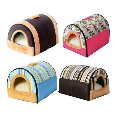 Warm Pet Dog Cat Bed House Kennel Mat Pad Washable Removable Folding  Puppy Nest