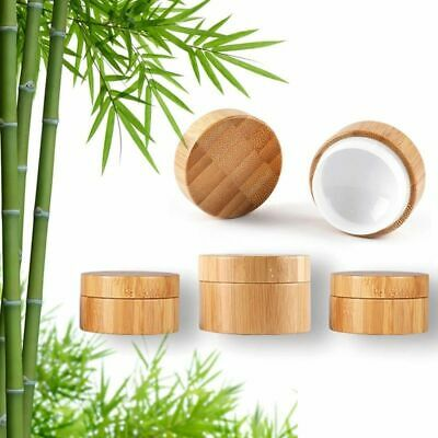 bamboo Sample Cosmetic Makeup Jars Pot Container Face Cream Lip Balm Classical