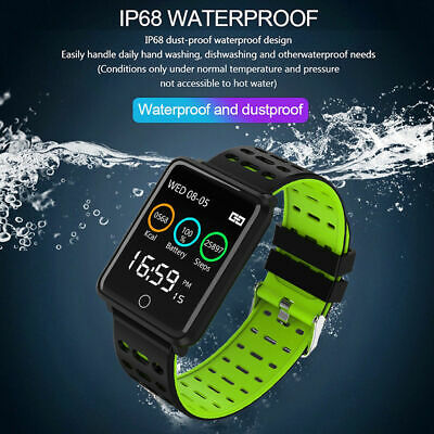 Waterproof Smart Watch Heart Rate Monitor Bracelet Wristband for iOS Android CHY