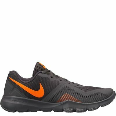 c15d408417a3f MEN S Nike Flex Control ll Shoe Sneakers 924204-080 Gray Orange Sz 12 13