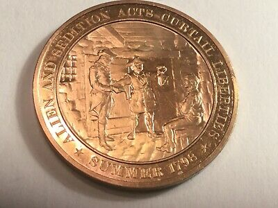 UNITED STATES MEDAL subject North Carolina The 12th state .25mm bronze uncircula