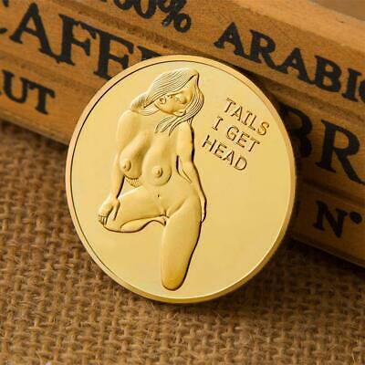 Sexy Stripper Girl Coin Adults Novelty Challenge Coins Tail And Head Luck Models