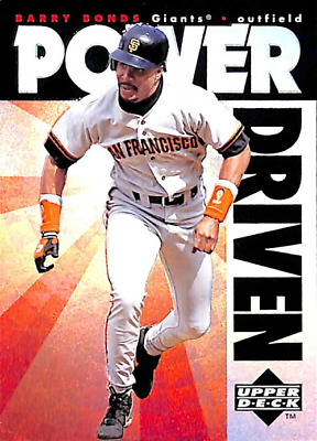 1996 Upper Deck Power Driven #PD2 Barry Bonds - NM-MT Giants