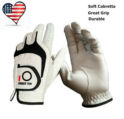 Leather Golf Gloves Premium Cabretta Men's Easy Grip Light Fits Left Right Hand