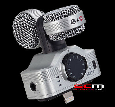 ZOOM iQ7 MID-SIDE STEREO MICROPHONE for iOS Devices LIGHTNING CONNECTOR AMAZING!