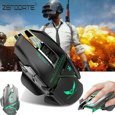 MACRO WIRED GAMING Mouse PC USB 4000DPI Optical Professional