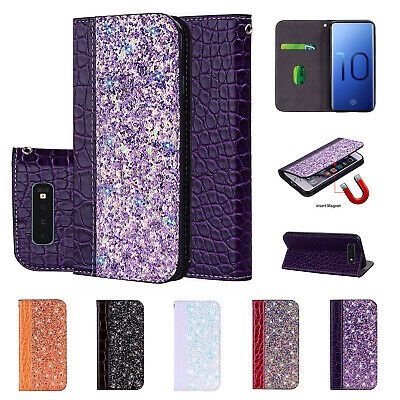 For Samsung Galaxy S10e S10 Plus Note 9 S8/9+ Magnetic Leather Case Wallet Cover
